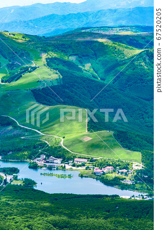 초여름의 蓼科山 등산 : 정상에서 구루마 야마 · 시라 카바 희망 67520205