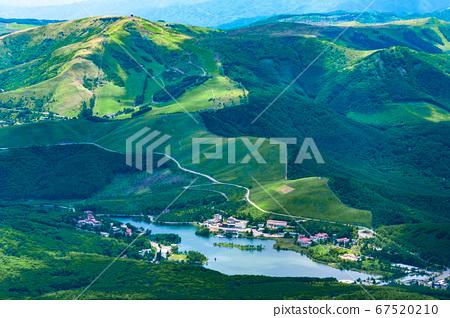 초여름의 蓼科山 등산 : 정상에서 구루마 야마 · 시라 카바 희망 67520210