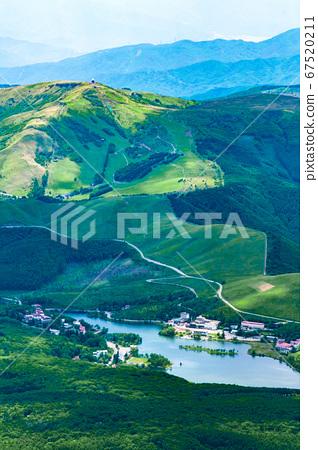 초여름의 蓼科山 등산 : 정상에서 구루마 야마 · 시라 카바 희망 67520211