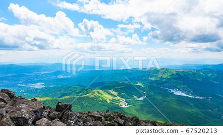 초여름의 蓼科山 등산 : 정상에서 시라 카바 · 구루마 야마 · 기리가 미네 방면 희망 67520213