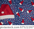 Santa outfit for Christmas. Colored snowflakes on 67522267