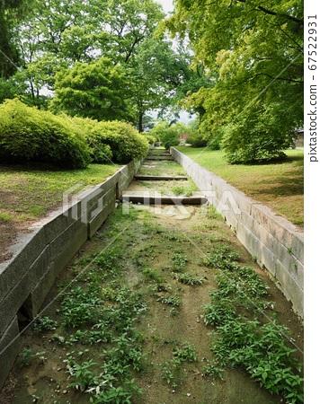 Korea's old architecture stone waterway 67522931