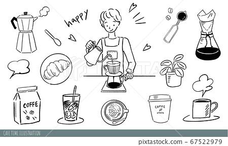 手繪咖啡館插圖集01 67522979