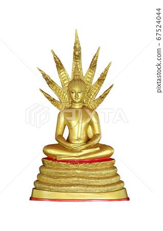 buddha statue isolated on white background 67524044