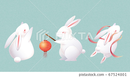 Element set of cute rabbits 67524801