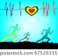 Run for health exercise background 67526335