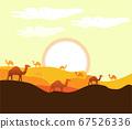 Sahara Arabic Desert on hot summmer 67526336