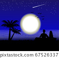Moon on the Sea landscape view 67526337