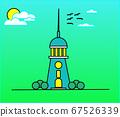 Lighthouse near ocean nature 67526339