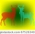 Digital animal deer Line Art 67526340