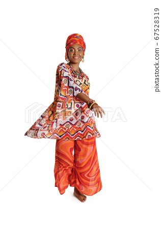 Beauty African American woman in traditional 67528319