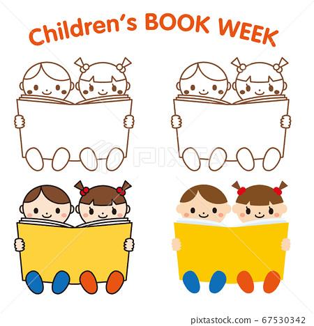 兒童閱讀書籍圖標集 67530342