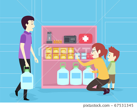 Family Hurricane Supply Illustration 67531345