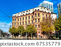 Traditional architecture in the old town of Mainz, Germany 67535779