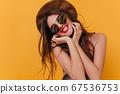 Romantic girl with cute smile posing in sparkle 67536753