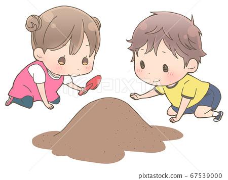모래밭에서 노는 아이 67539000