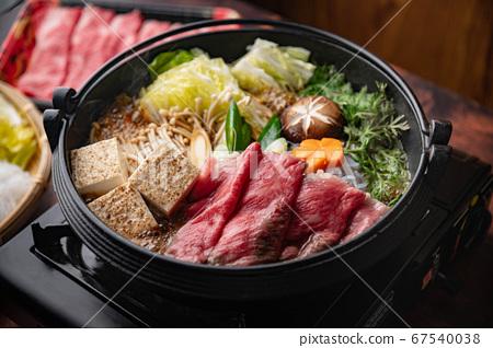 sukiyaki, japanese traditional hot pot 67540038