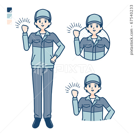 simple delivery man_fist-pump 67540233