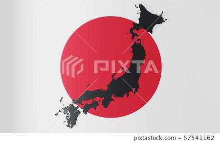 mock up Map Japan 3d map Realistic.3d rendering 67541162