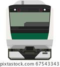 Dot picture style E233 series (Saikyo line) 67543343