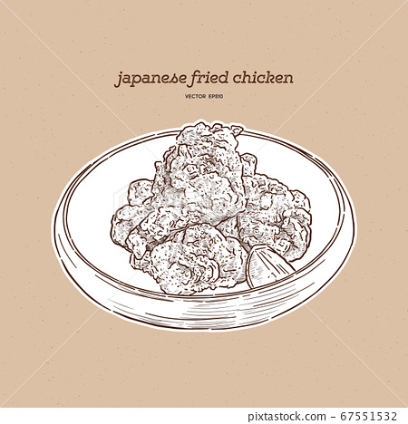 Japanese food,Karaage,Fried chicken japanese 67551532