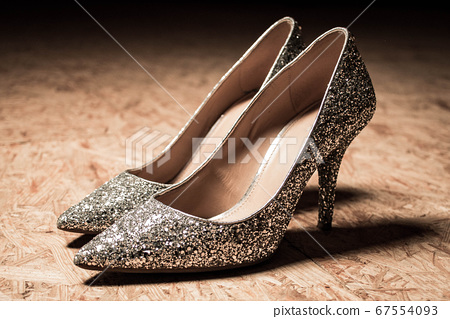 glitter high heels woman shoes shiny fashion 67554093