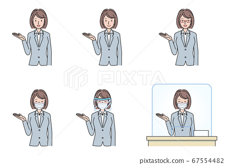 A variation set of a woman in a suit to guide you 67554482