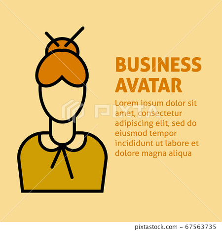 A square image with the vector business avatar of 67563735