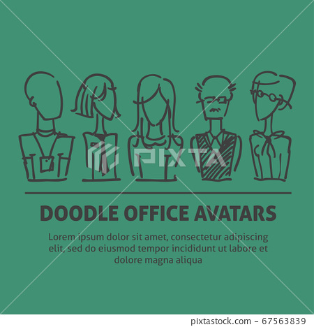 A square vector image with dooodle business 67563839