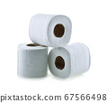 toilet paper isolated on white background 67566498