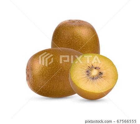 Yellow kiwi fruit on white background 67566555