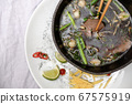 Traditinal vietnamese pho bo soup with vegetables 67575919