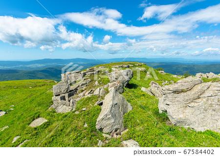 mountain landscape. white sharp stones on the 67584402