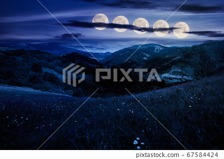 summer landscape in mountains at night. amazing 67584424