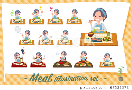 flat type hairband apron mom_Meal 67585378