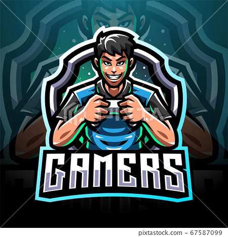 Gamer esport mascot logo design 67587099