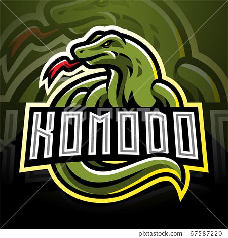 Komodo esport mascot logo design 67587220
