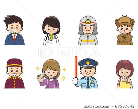 各種職業商人女醫生消防員偵探酒店旅館時裝設計師護衛員 67587648