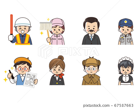 各種職業保安員清潔工總統救援人員漫畫家機艙服務員偵探女僕 67587663