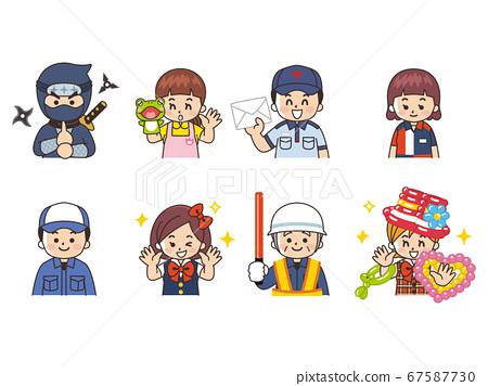 各種職業忍者,保育員,郵局工作人員,便利店文員,汽車修理工,偶像警衛,氣球藝術 67587730