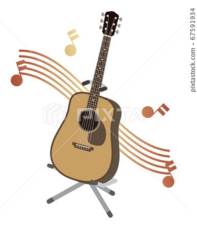 民謠吉他和筆記 67591934