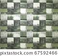 사각형 패턴 벽지 67592466