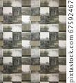 사각형 패턴 벽지 67592467