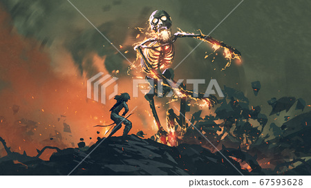 the legendary flaming skeleton 67593628