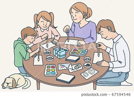 가족, 패밀리, 그림 편지 67594546