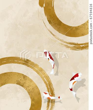 锦和水彩日式背景素材 67594816