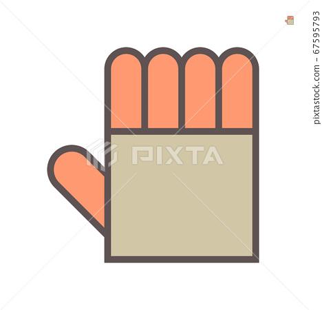 Heat resistant gloves vector icon design on white 67595793