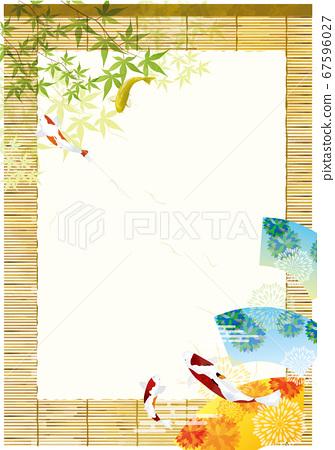 Sudare框架材料錦木綠葉日式材料 67596027