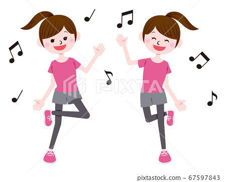 춤 여성 67597843