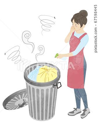 垃圾扔掉家庭主婦的氣味 67598445
